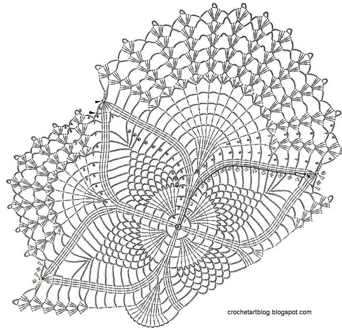 Crochet Art: Crochet Doilies - Free Crochet Pattern - Oval Lace Doilies #crochetdoilies