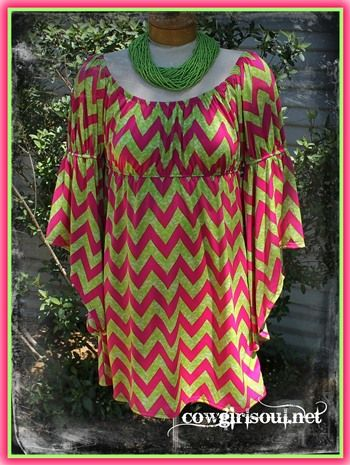 Pink and Lime Chevy Dress  $44.95