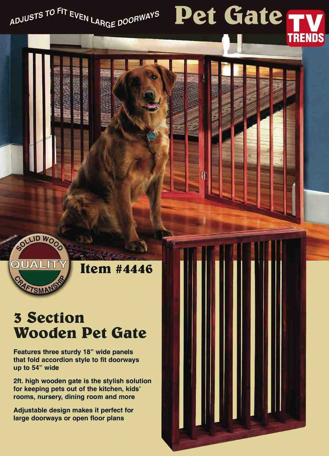 Folding Wood Pet Gate 3 Sections Click Image For More Details This Is An Affiliate Link Mydog