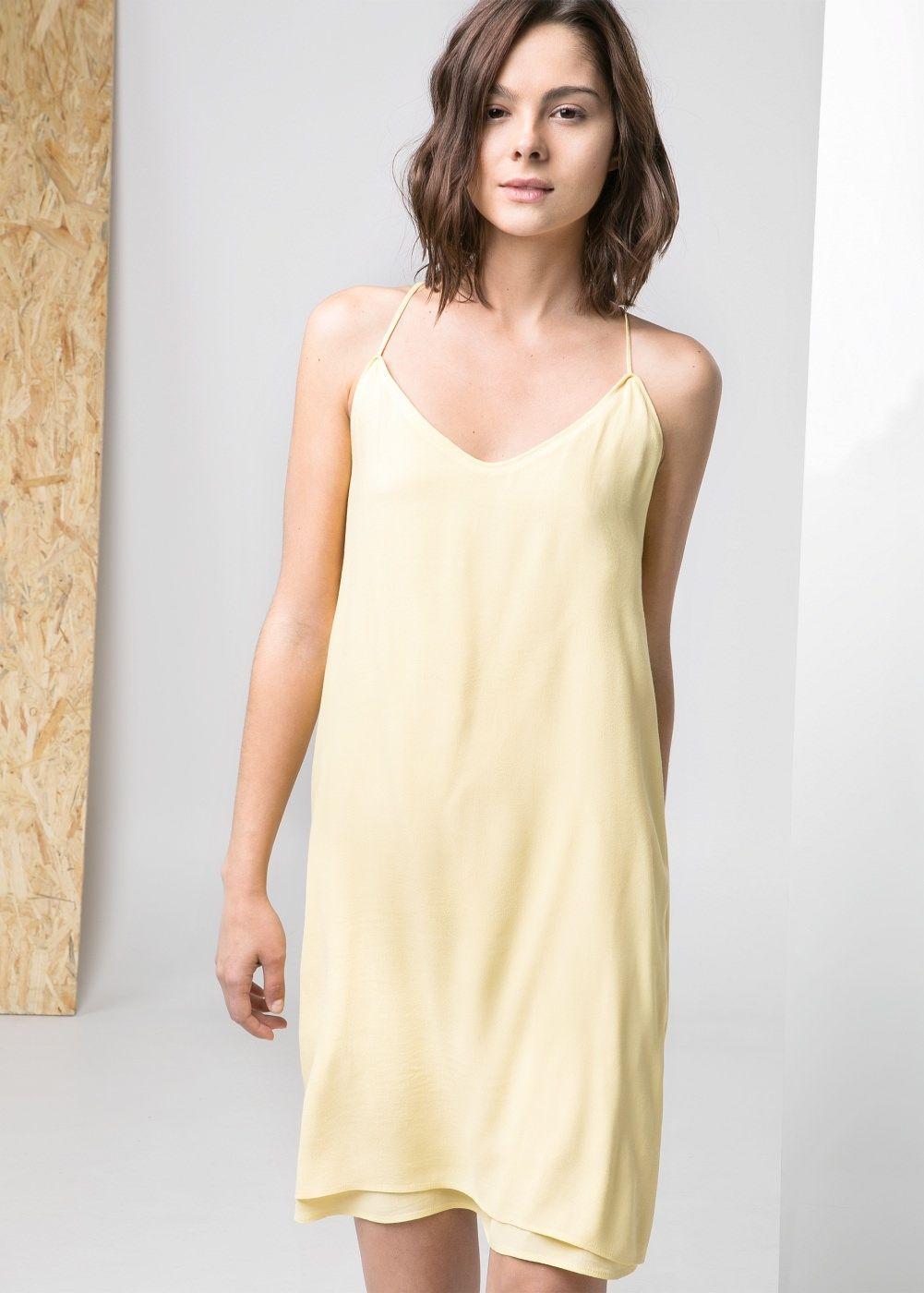 Kleid mit v-ausschnitt - Damen   Wäsche