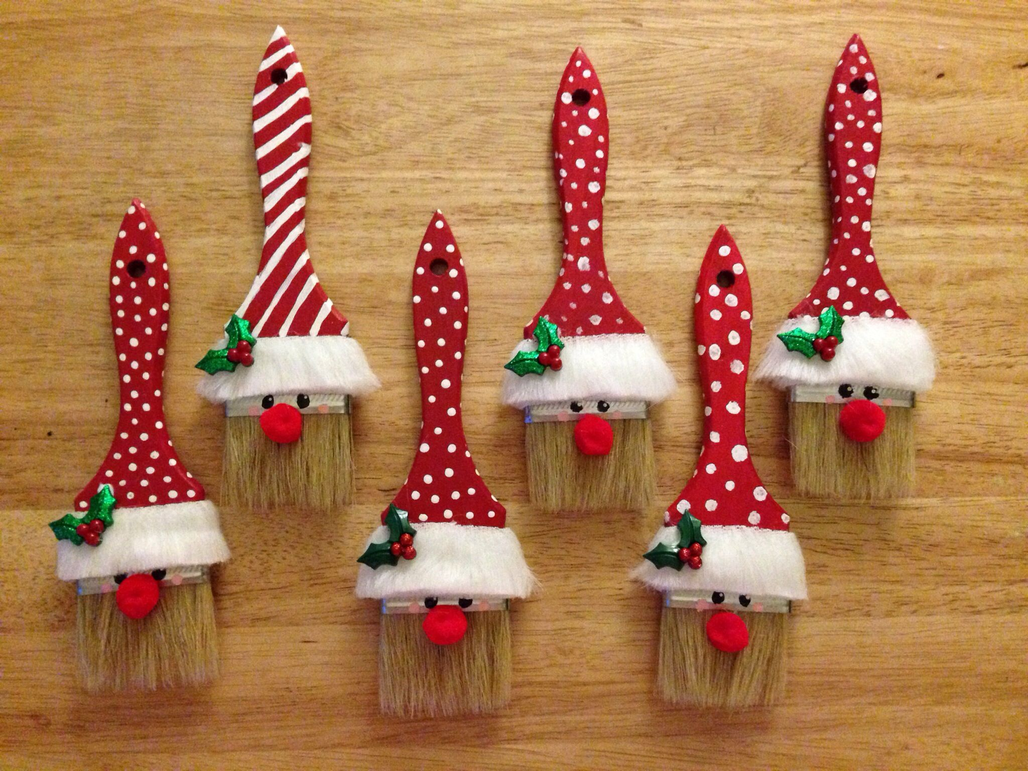 Paint brush elves. Christmas ornament crafts, Pinterest