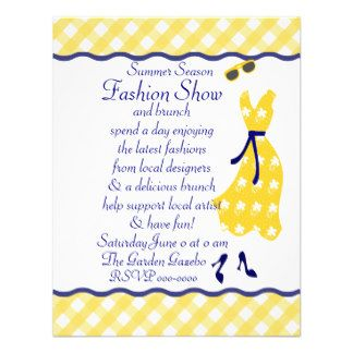 Fashion Show Invitation Templates Dress Shop Invites 256 Dress