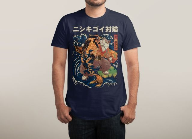 THE CAT AND THE KOI T-Shirt - Japanese T-Shirt