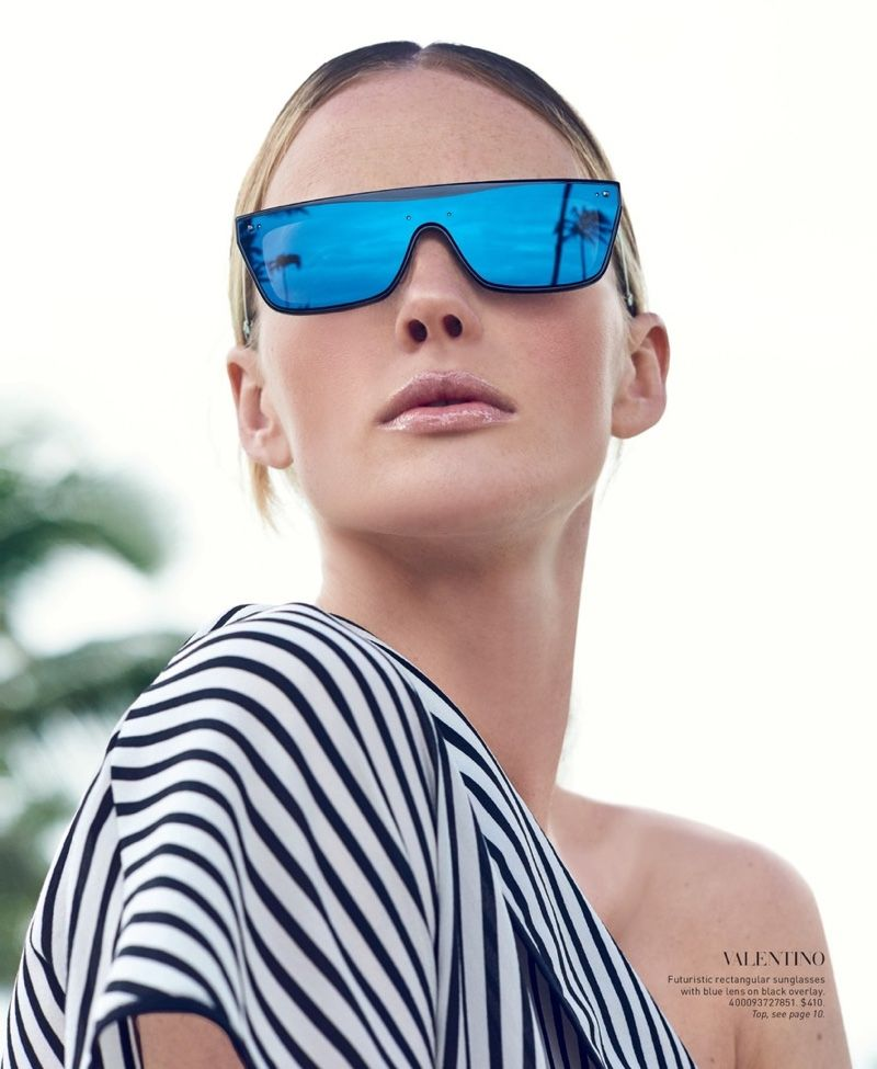 d82e23f4c4c Anne Vyalitsyna Models the Season s Must-Have Sunglasses from Saks ...