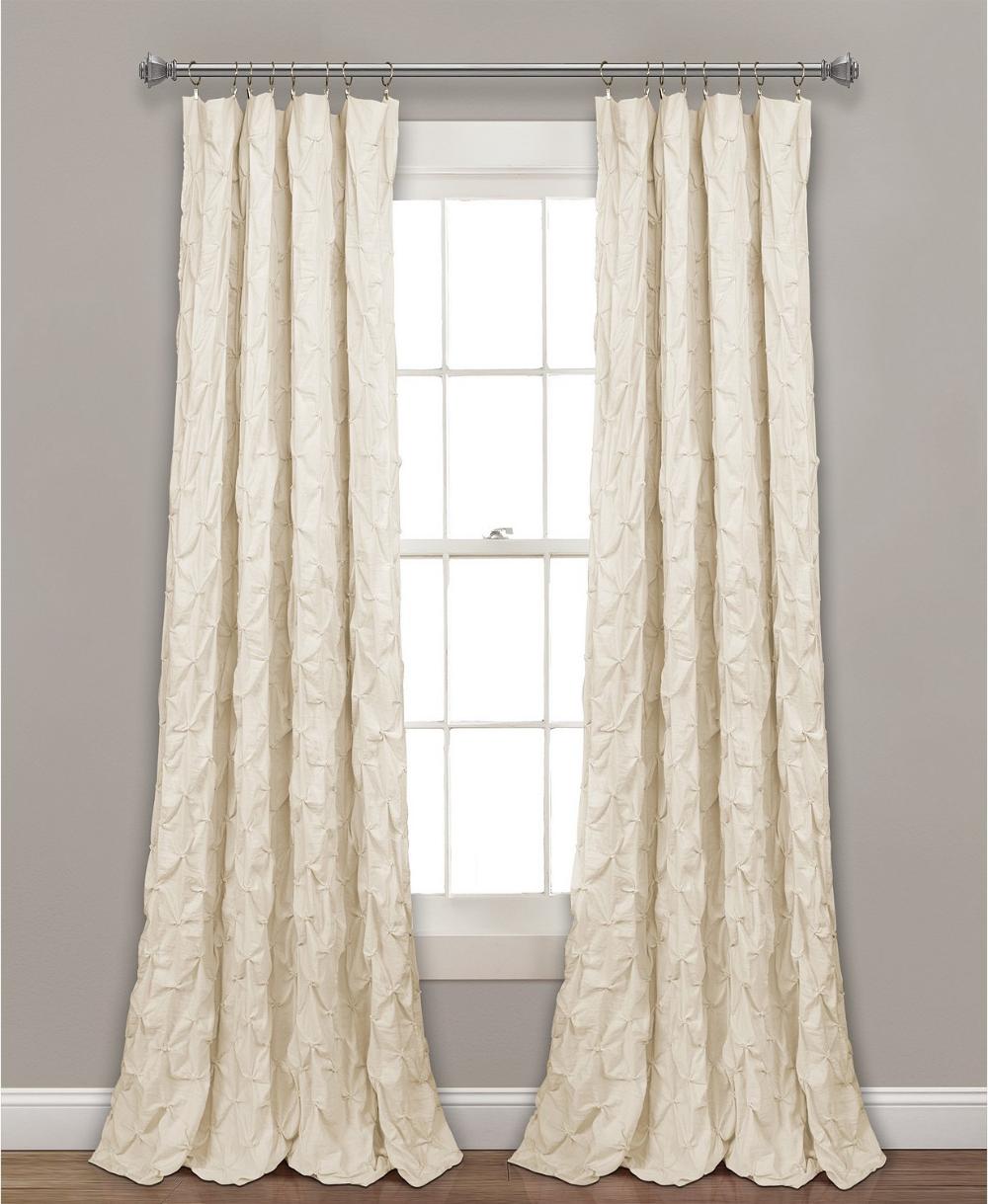 Lush Decor Ravello Pintuck 52 In 2020 Panel Curtains White