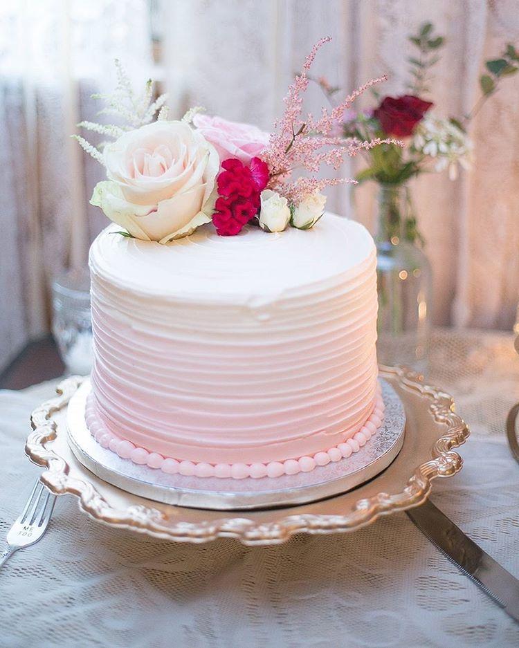 Instagram Fresh Flower Cake Pink Ombre Wedding Cake Wedding Cake Ombre