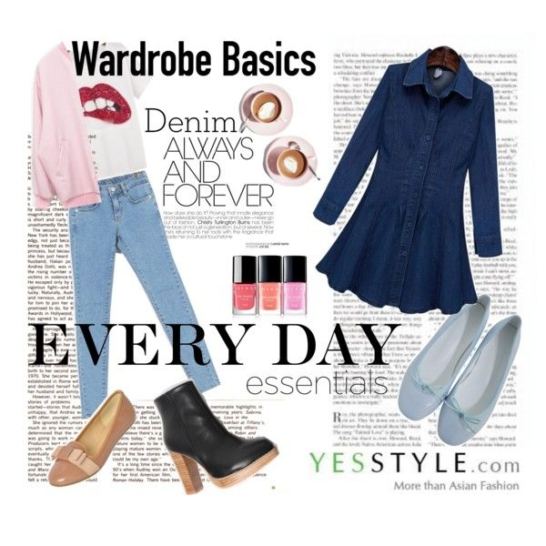 Love Denim - YesStyle by #yesstyle on #Polyvore featuring Hermina, GLAM12, Envy Look, Quintess, chuu and maybe-baby #denim #fashion