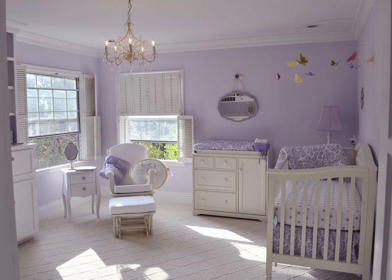 Liesl S Lavender Nursery Project Nursery Purple Baby Rooms Lavender Nursery Purple Baby Nursery