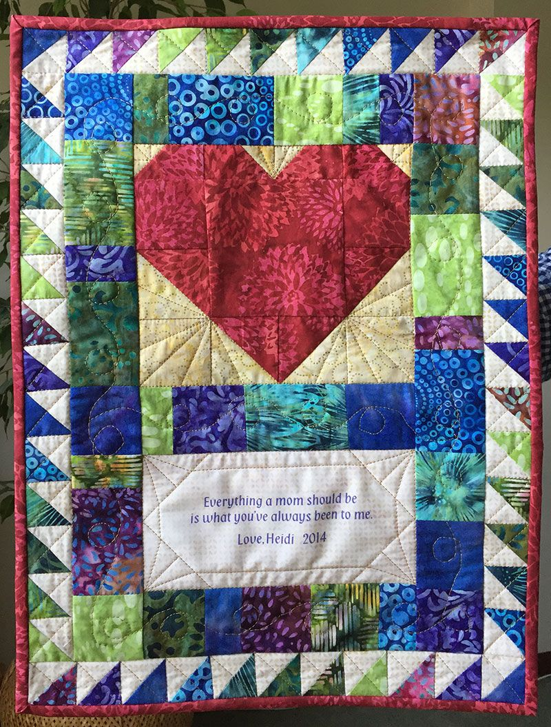 Craft Picnic Page 12 Dishing Out Creative Goodies Quilted Wall Hangings Wall Hanging Crafts Quilt Tutorials