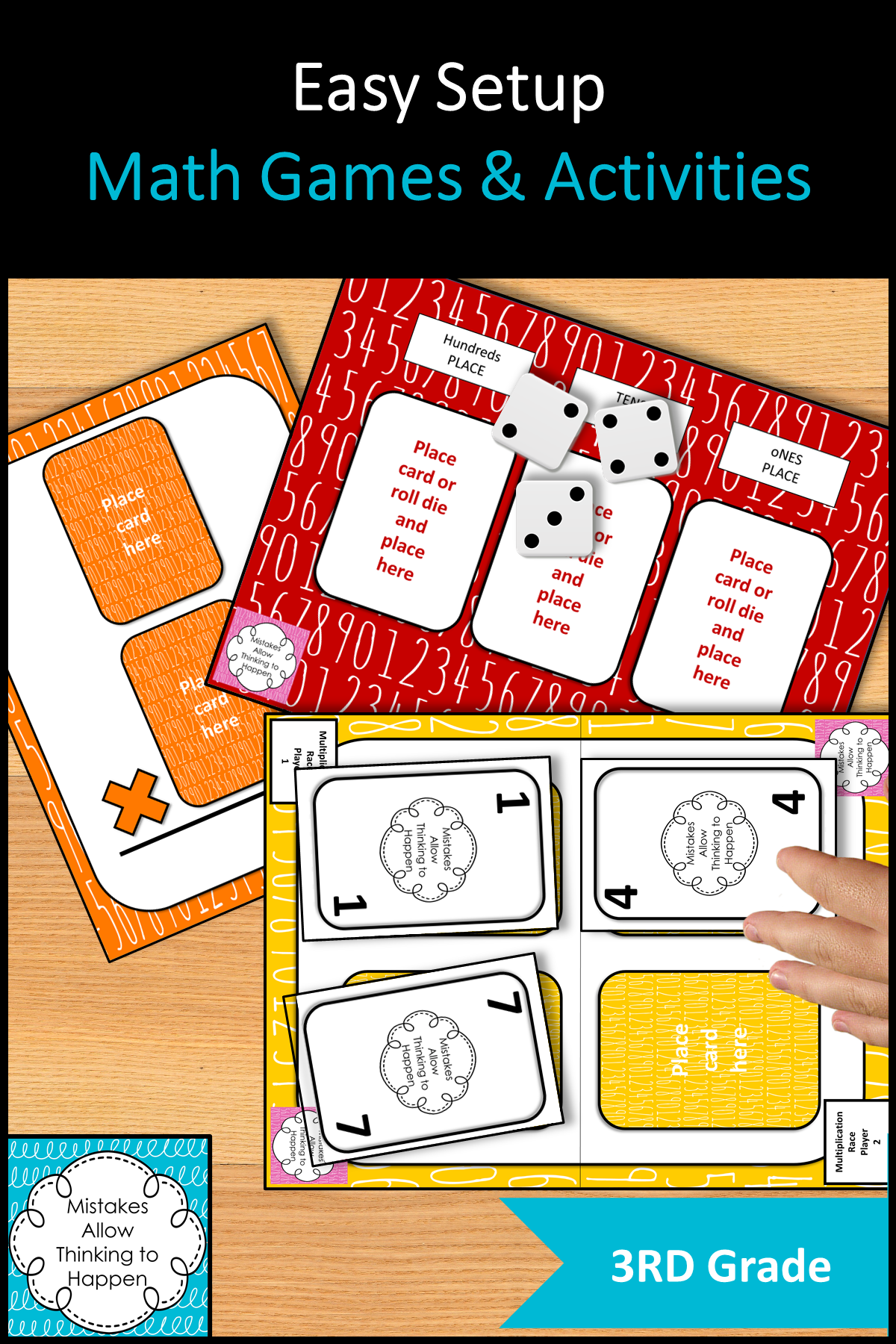 Easy Set up Math Games for 3rd Graders in 2020 Math