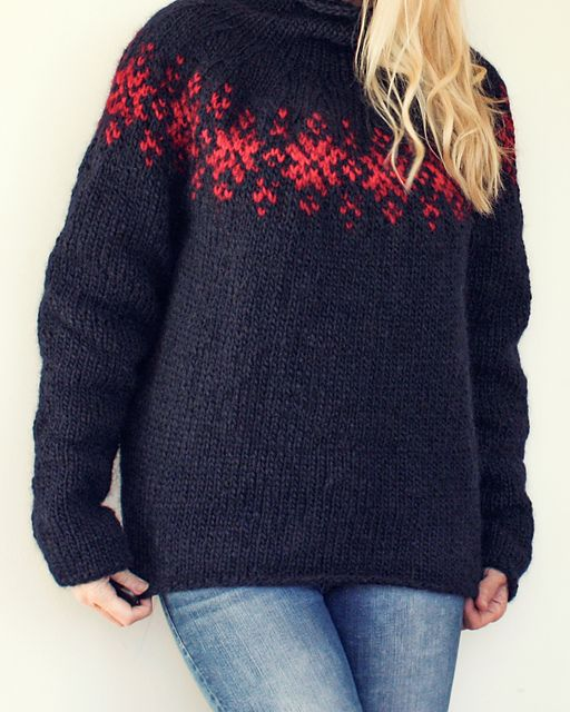Twilight Sweater pattern by Katrine Hammer | Icelandic sweaters ...