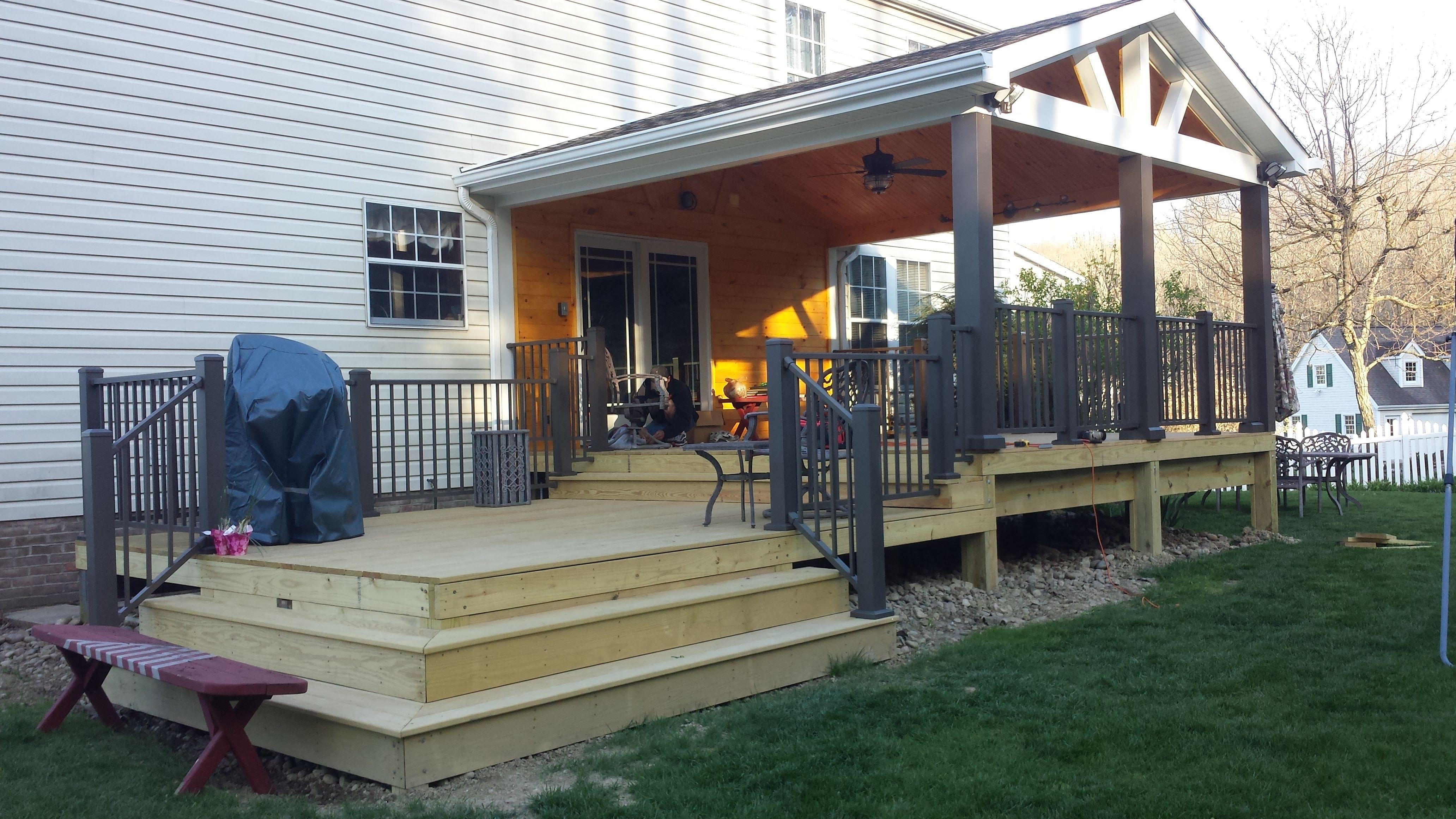 Open Gable Design Roof Deck Deck With Pergola Pergola