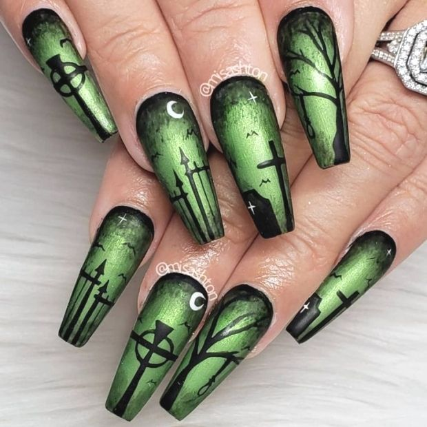 Pin by alaska on nails in 2020 | Halloween nail designs ...
