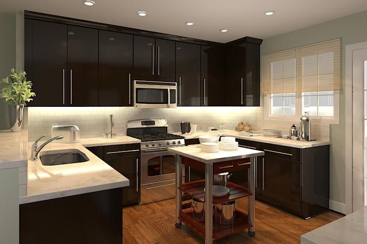 Carrara marble counters w/dark cabinets in the kitchen. Yes ... on