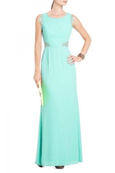 Mint Bcbg Max Azria Karey Lace Detail Evening Gown
