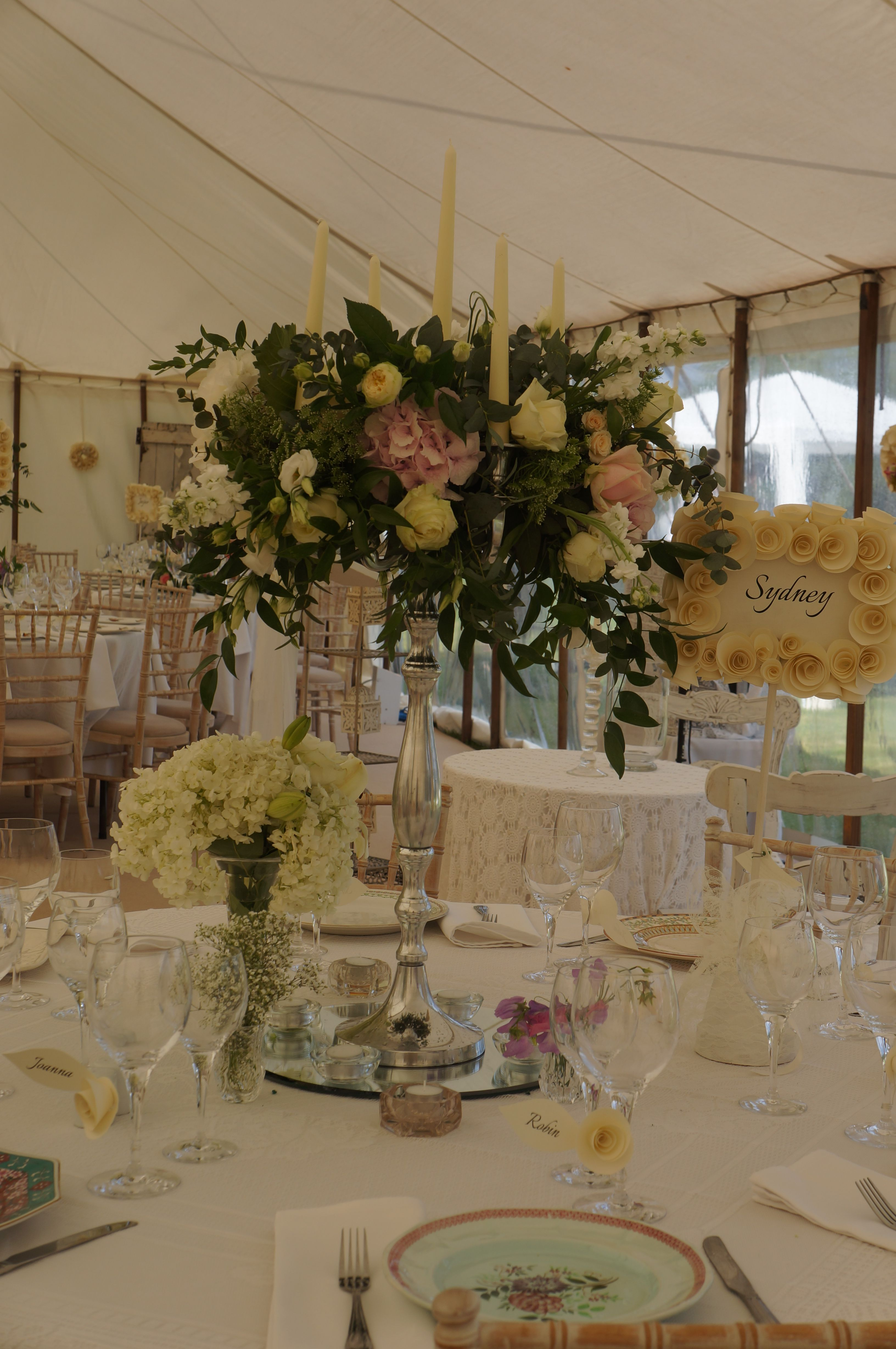 Cotswolds marquee candelabra the bespoke flower company lower