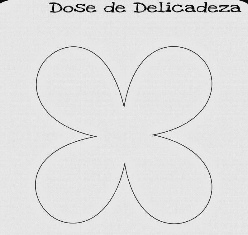 Molde Flor 4 Petalas De Papel Pequeno Pesquisa Google Projects