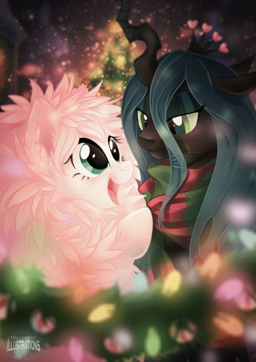 Fluffle Christmas by Mallemagic Another super pretty holiday fanart~ ♥