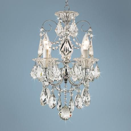 Schonbek Silver Palace Crystal Mini Chandelier Style 50886 – Mini Crystal Chandelier Under 100