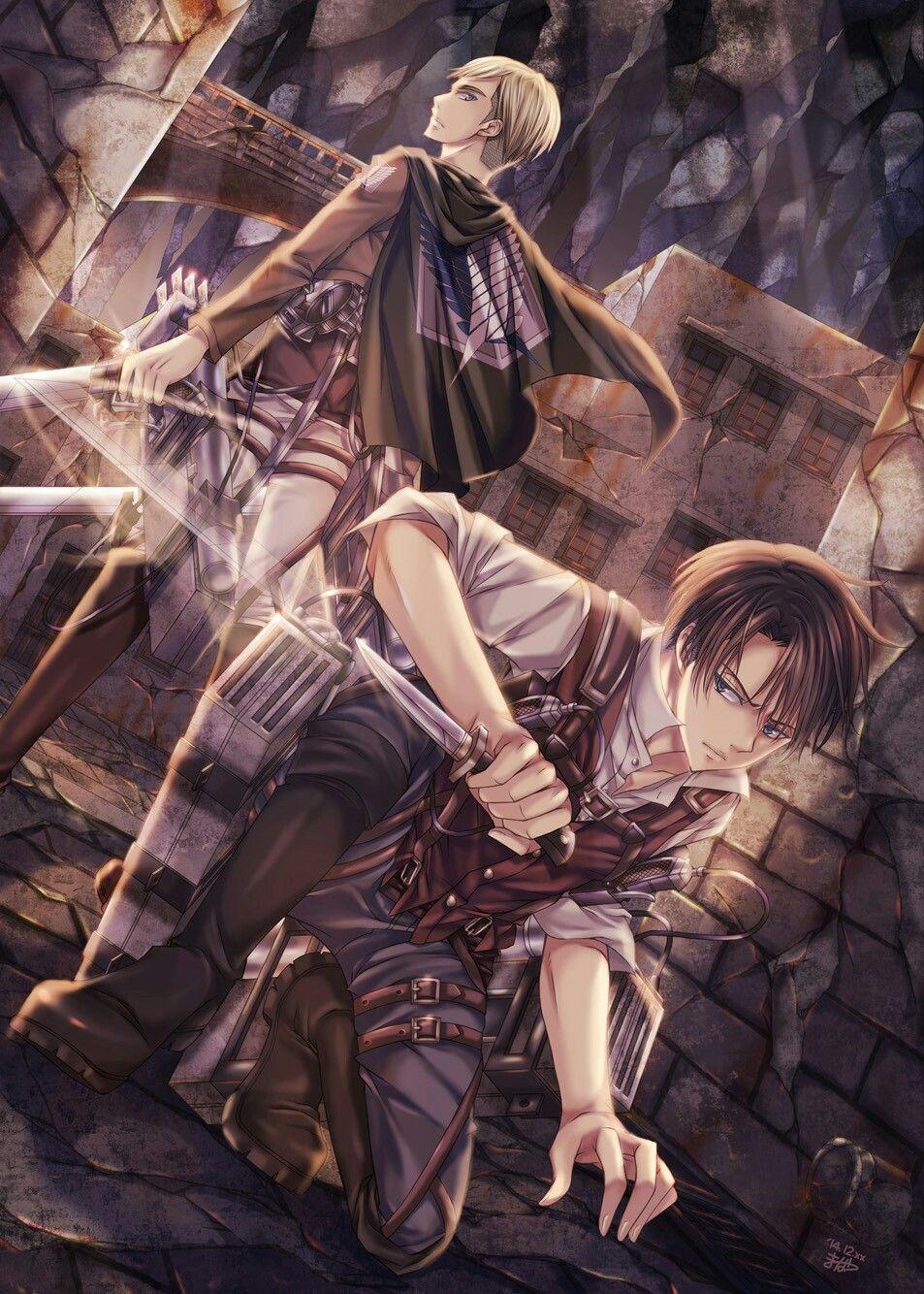 d829910e490a Erwin & Levi | AoT | Anime Love | Attack on titan levi, Attack on ...