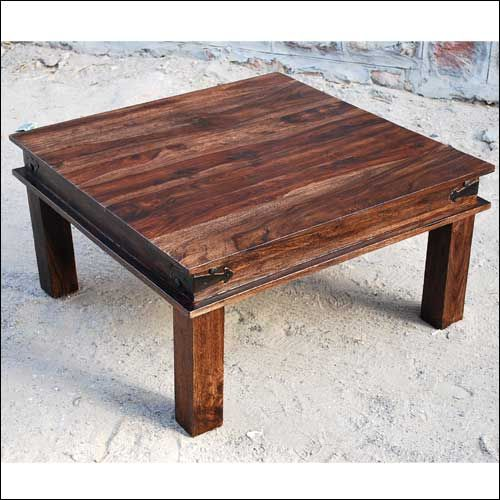 Simple And Elegant Square Black Coffee Table Entirely Handmade