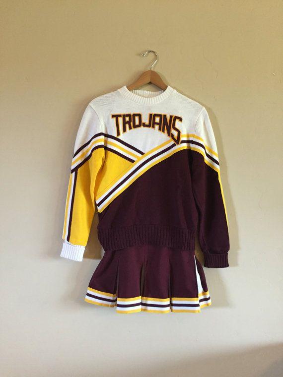 edceafc86 70's Vintage Cheerleading Outfit Vintage by SandHollowVintage