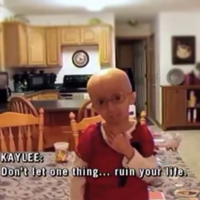 """Be fabulous! Don't let one thing...ruin your life."" This is Kaylee. She's only 7, and she has progeria. Even though she struggles with a disease, she is positive. She has encouraged me to be more positive towards life, and not to let the little things ruin my life. I have done a little research on progeria, and it is not something to joke about. I also have watched a few interviews on a few young girls such as this one, that struggle with the terrible disease. They have inspired me in many…"