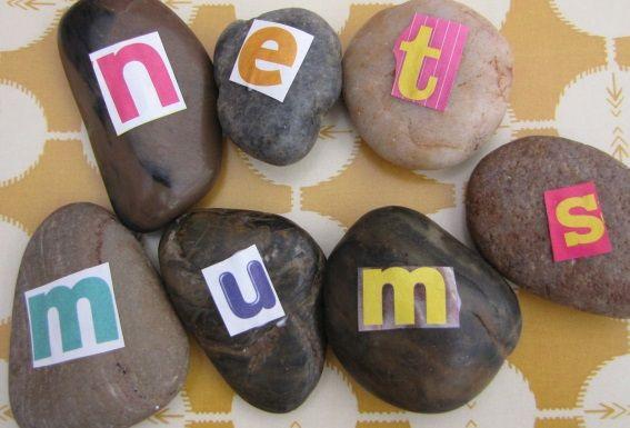 Alphabet pebbles