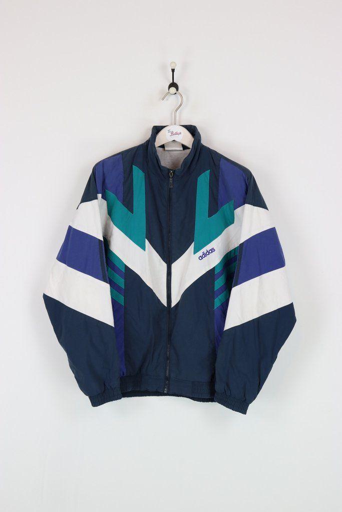 Adidas Shell Suit Jacket NavyGreenWhite Large | Ropa