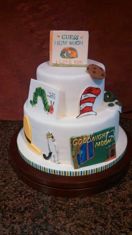 book themed baby shower cake google search