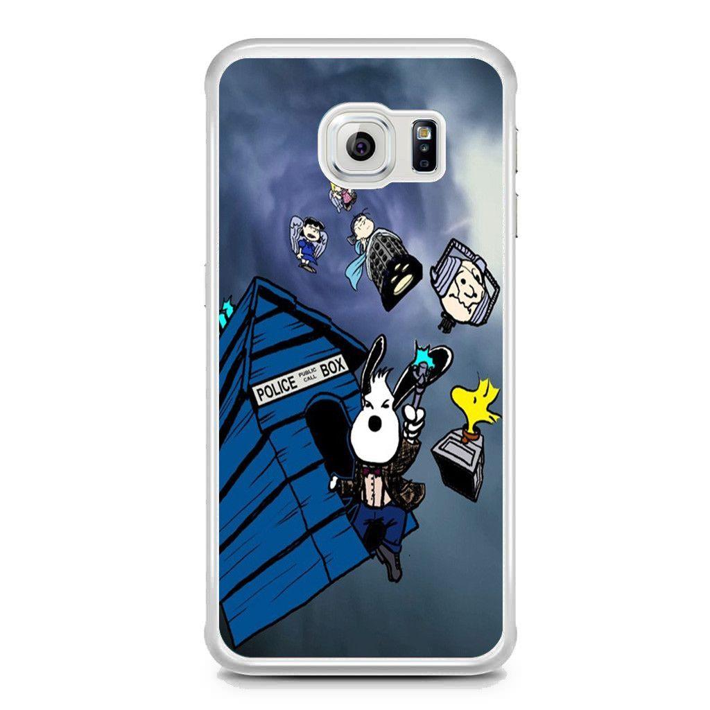 Snoopy Tardis Dr Who Samsung Galaxy S6 Edge Case