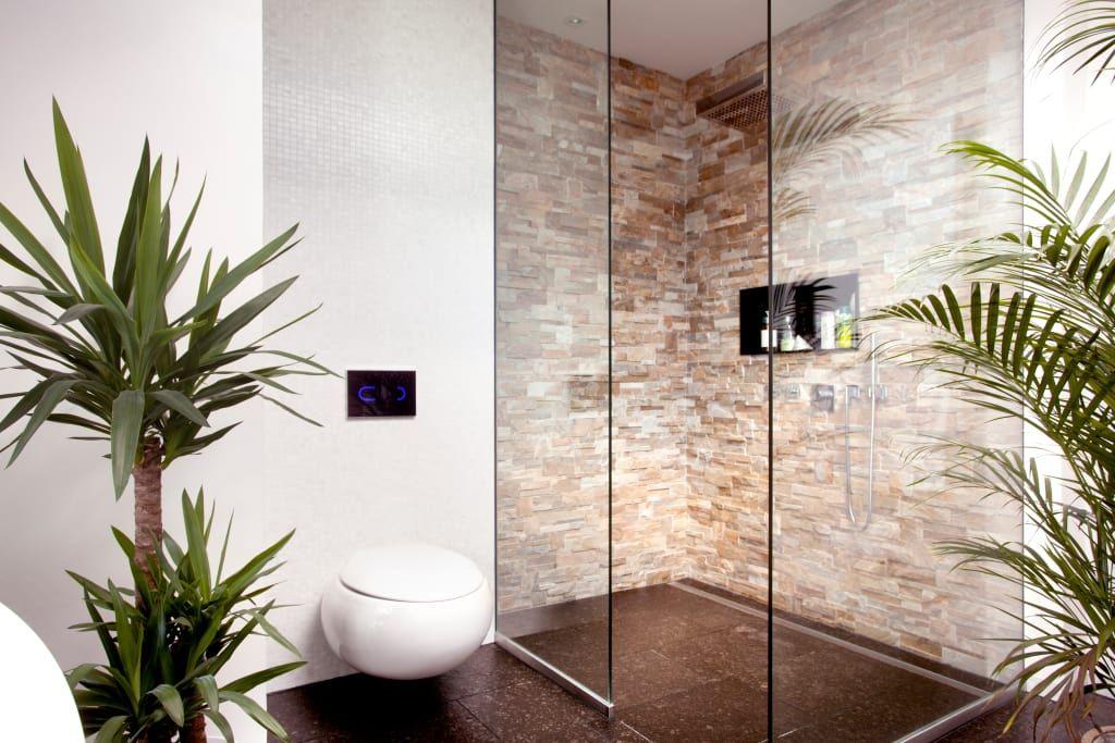 Grosse Glasdusche Asiatische Badezimmer Von Klaus Geyer