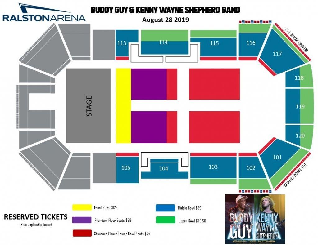 Buddy Guy And Kenny Wayne Shepherd Band Ralston Arena For Stylish