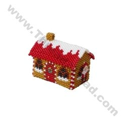 3D Santa House Christmas Village Ornament Pattern Bead Pattern By