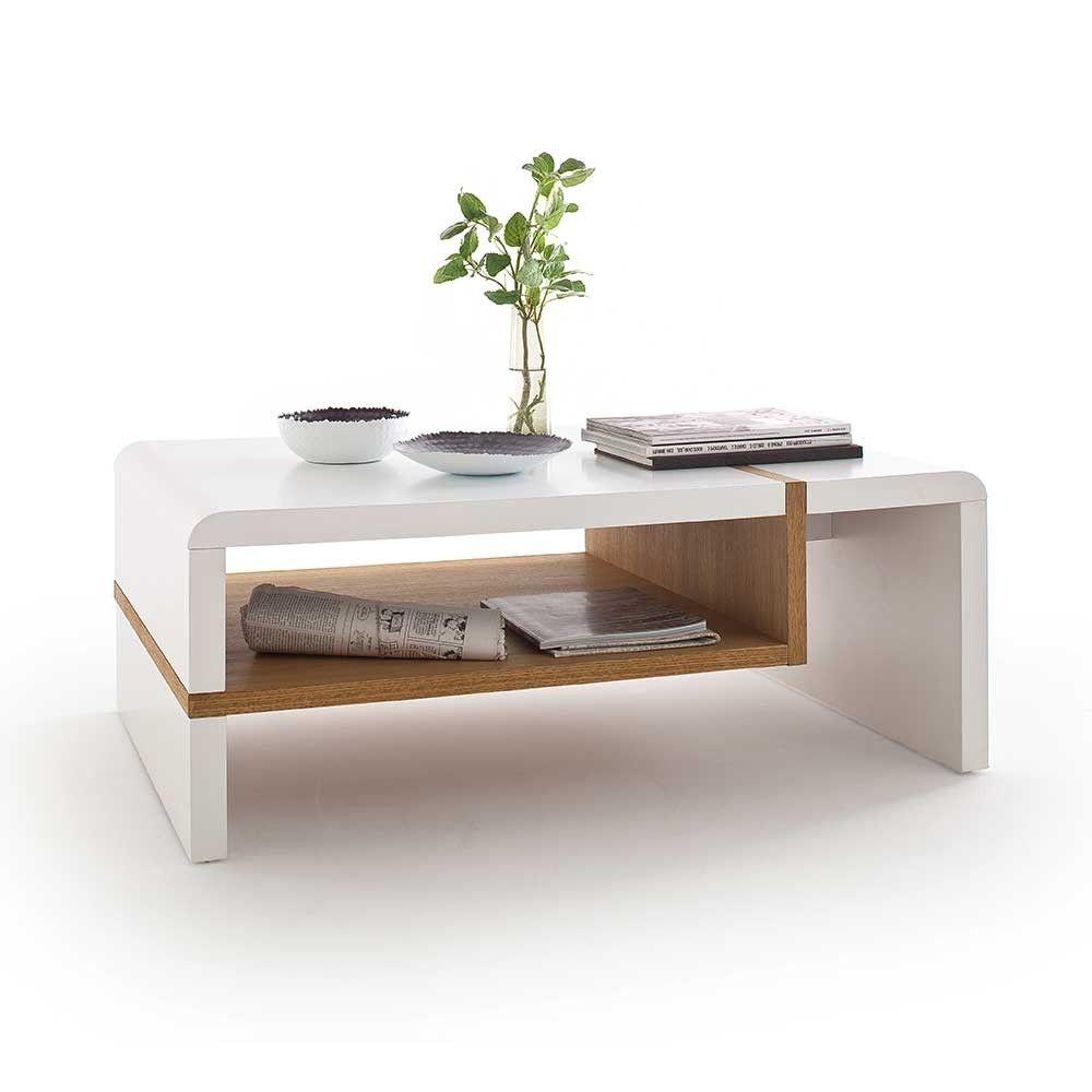 Couchtisch Speed In Weiß Mit Eiche Massivholz Couchtisch Weiß Holz Couchtisch Tisch