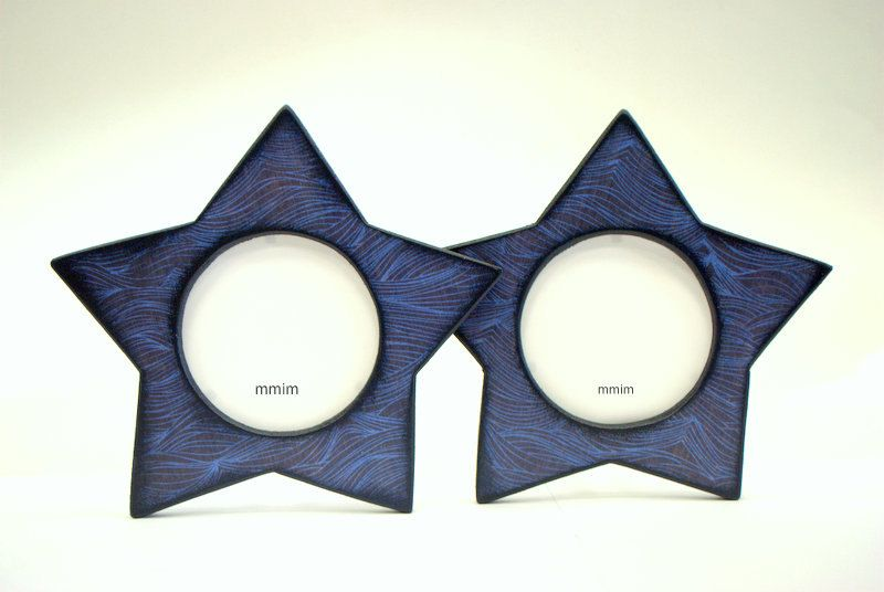 Stars Picture Frame, Navy Waves Star Shaped picture frames, Circular ...