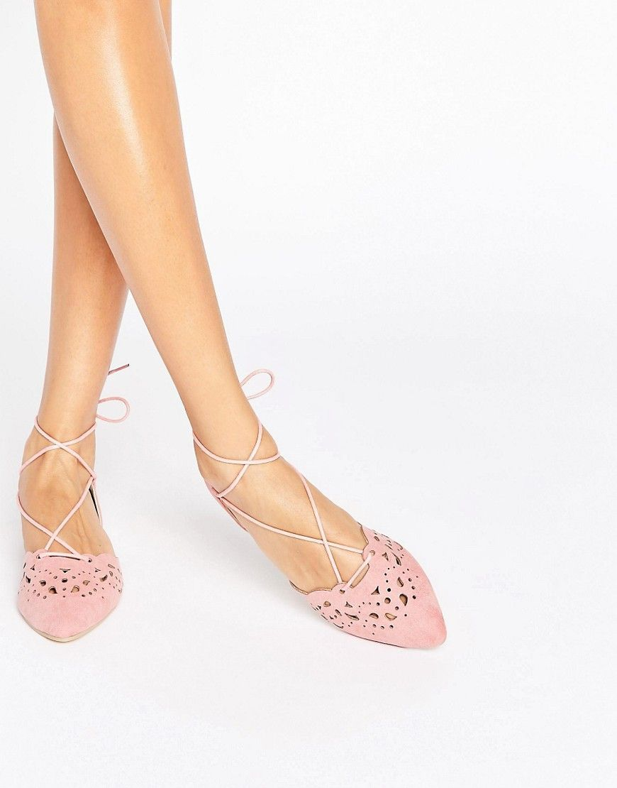 Point Slingback Flat Shoe in Pink - Pink mf Glamorous BmBmIOn