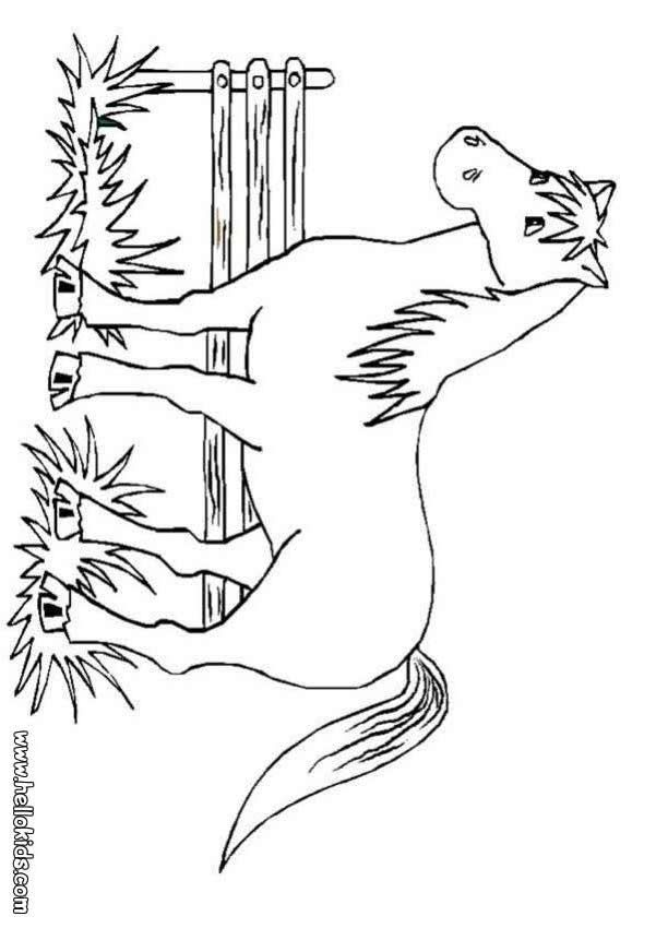 big horse coloring page | Horse coloring pages, Farm ...