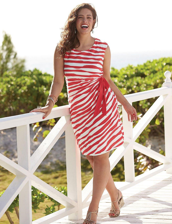 Plus Size Dresses Plus Size Textured Stripe Dress Dressbarn