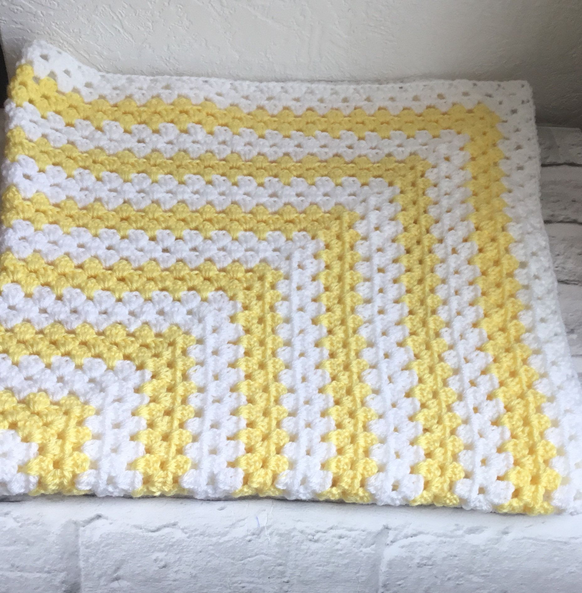 Granny Square Hand Made Crochet Blanket  Baby Blanket  Toddler Blanket  Pram Blanket  Cot Blanket  Baby Gifts  Gifts For Newborns