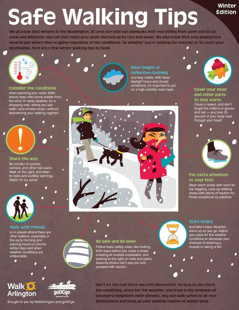 Winter Safe Walking Tips... especially useful in the state