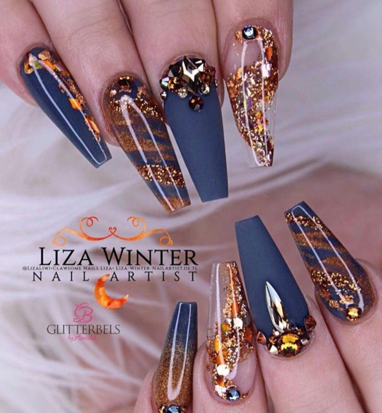 Pinterest Envytaaliyah Ig Kiataaliyah Envytaaliyah Cute Acrylic Nails Cute Acrylic Nail Designs Blue Gold Nails