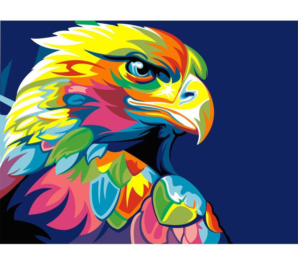 """Раскраска по номерам Артвентура """"Радужный орел Ваю Ромдони ..."""