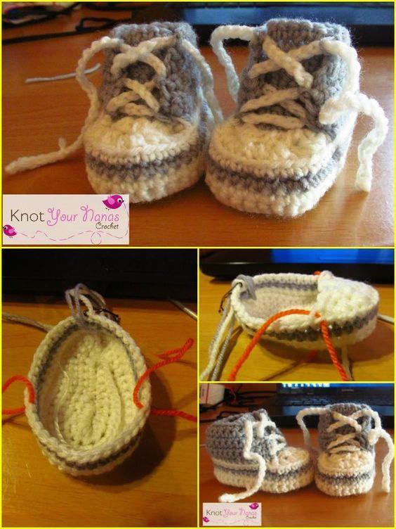 Crochet Baby Booties - Top 40 Free Crochet Patterns   Zapatitos ...