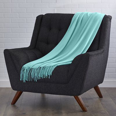 Darby Home Co Collins Cashmere / Wool Throw Blanket Color: