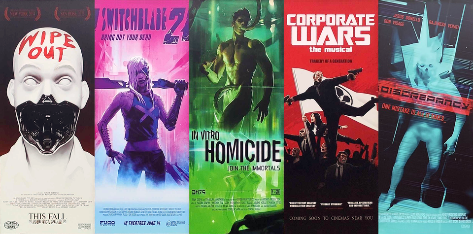 cyberpunk 2077's fake posters. cyberpunkgame in 2020