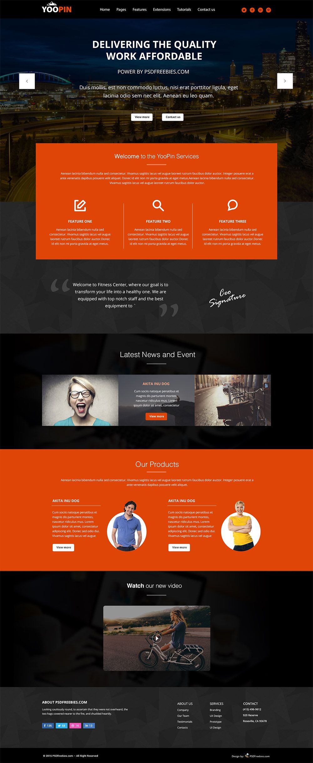 Yoopin multipurpose modern website template free psd pinterest download yoopin multipurpose modern website template free psd template made for multipurpose websites which need clean and creative design maxwellsz