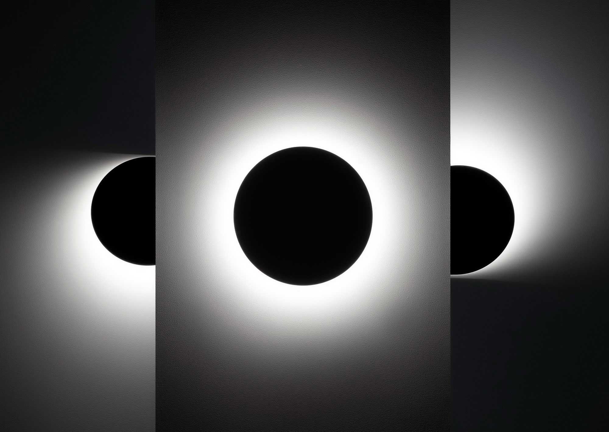 Contemporary wall light acrylic led round polar ross