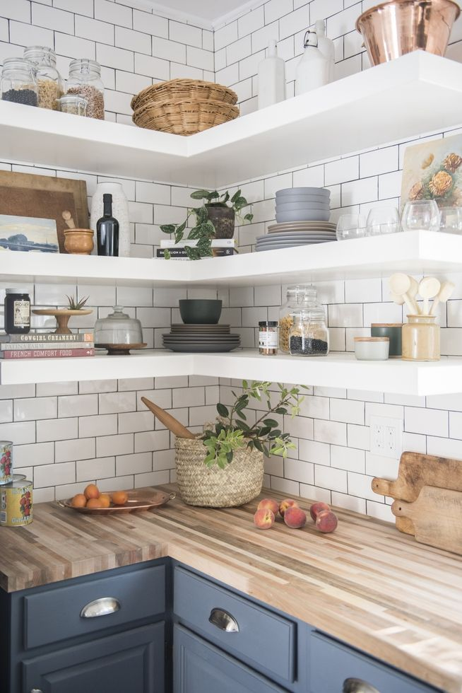 5 Ways to Style Your Kitchen\'s Open Shelves | Rustic kitchen ...