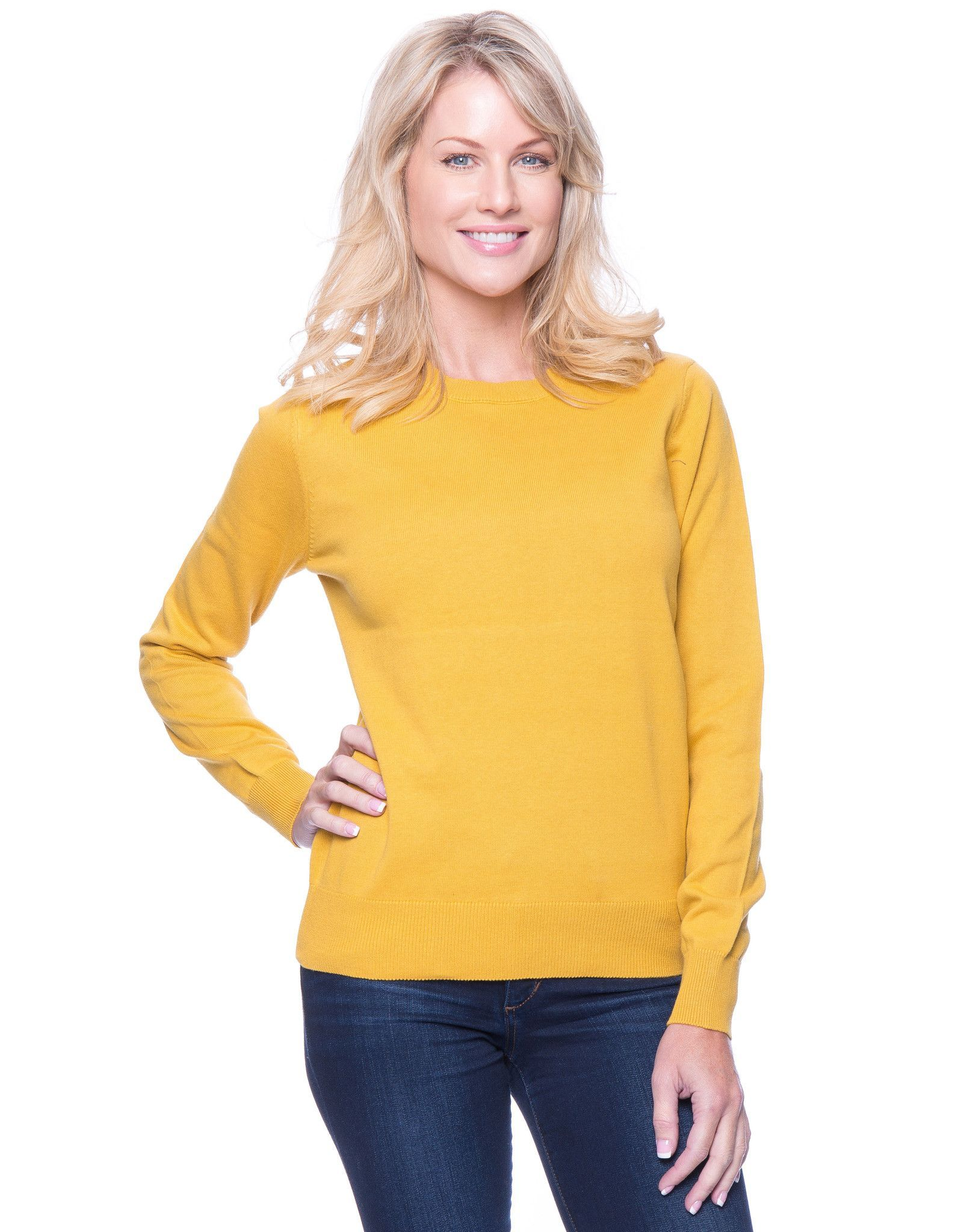 Tocco Reale Women's Premium Cotton Crew Neck Sweater | Crew neck ...